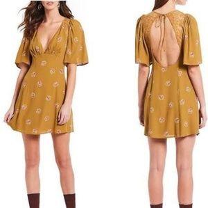 NWT free people clove mockingbird brown dress